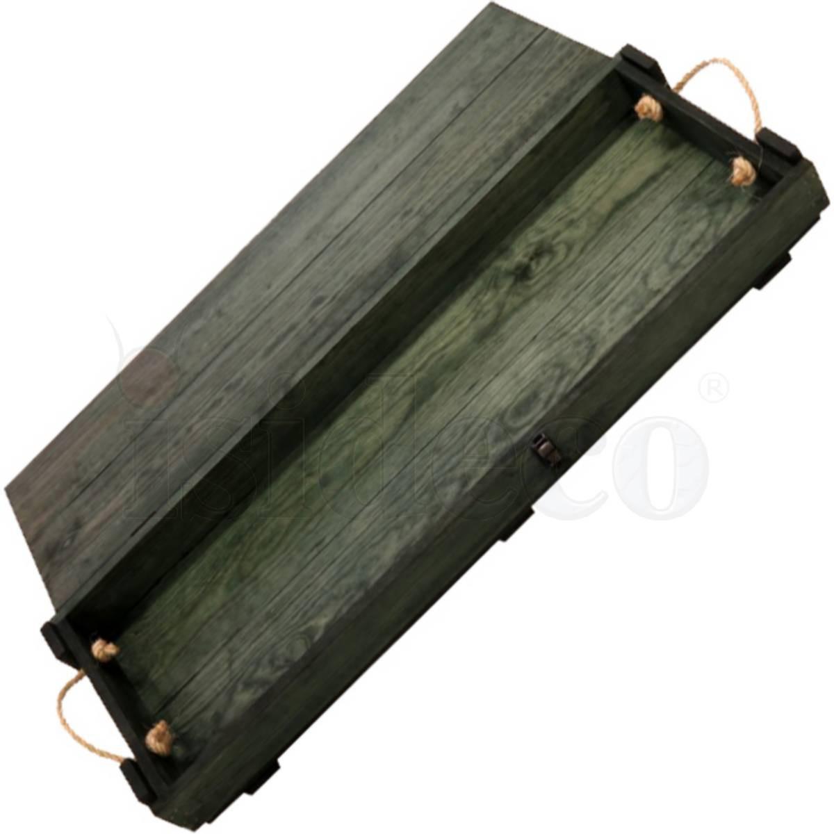 holzbox mit seilgriffen für moderne gewehre innenmaß 92cm deko, Modern Dekoo