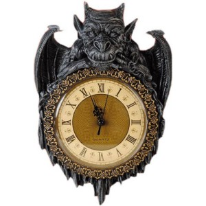 wanduhr gargoyle klein timekeeper small ebay. Black Bedroom Furniture Sets. Home Design Ideas